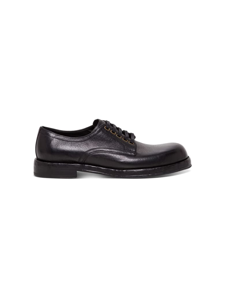 Dolce & Gabbana Lace-up Leather Shoes - Black