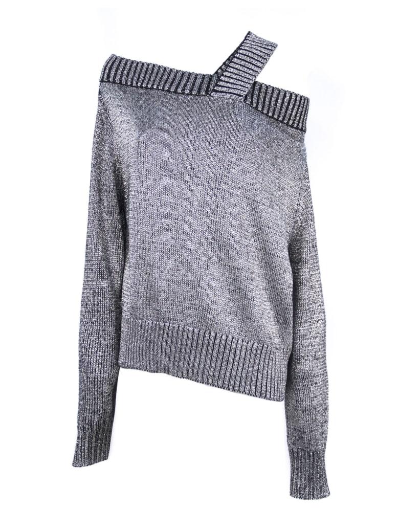 RTA Silver Toned Cotton Blend Jumper - Argento