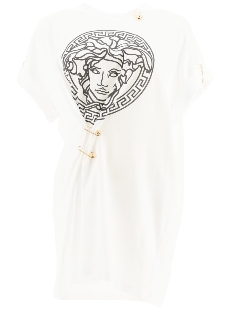 Versace Oversized T-shirt With Safety Pins