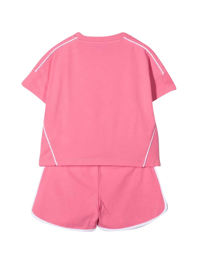Moschino Double Question Mark Teen Sports Suit - Rosa