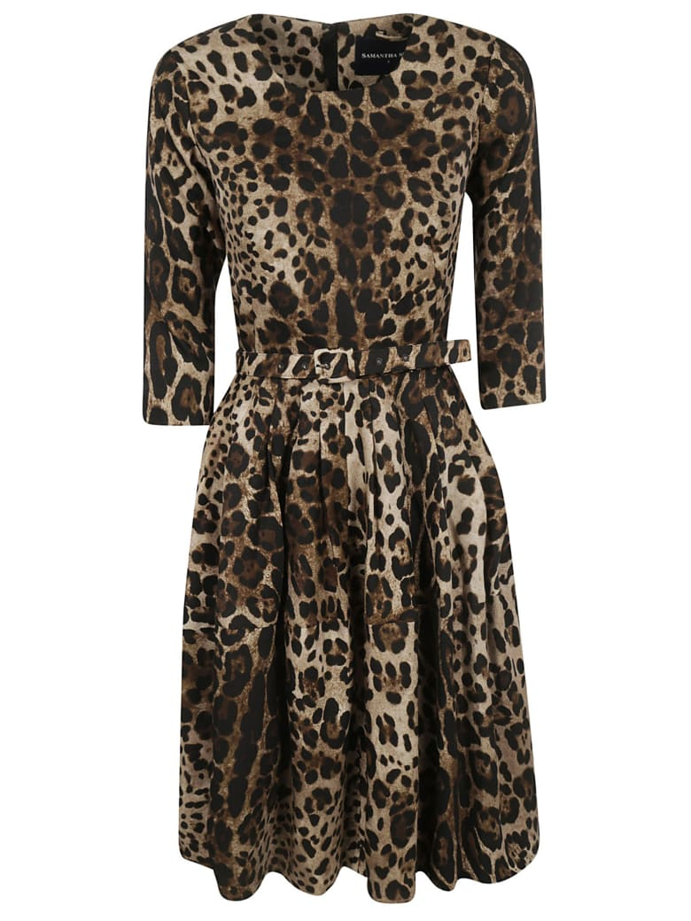 Samantha Sung Rachel Safari Dress - Camel/Sepia