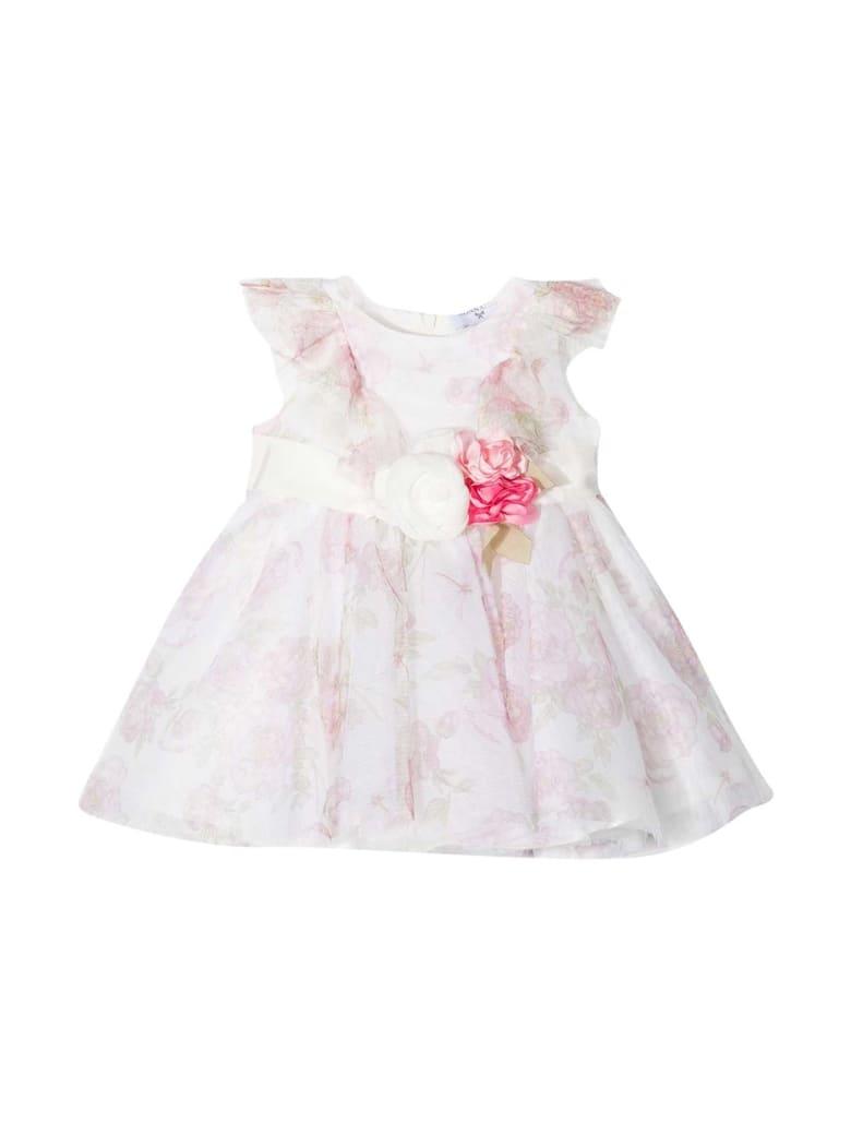 Monnalisa Floral Dress - Bianco