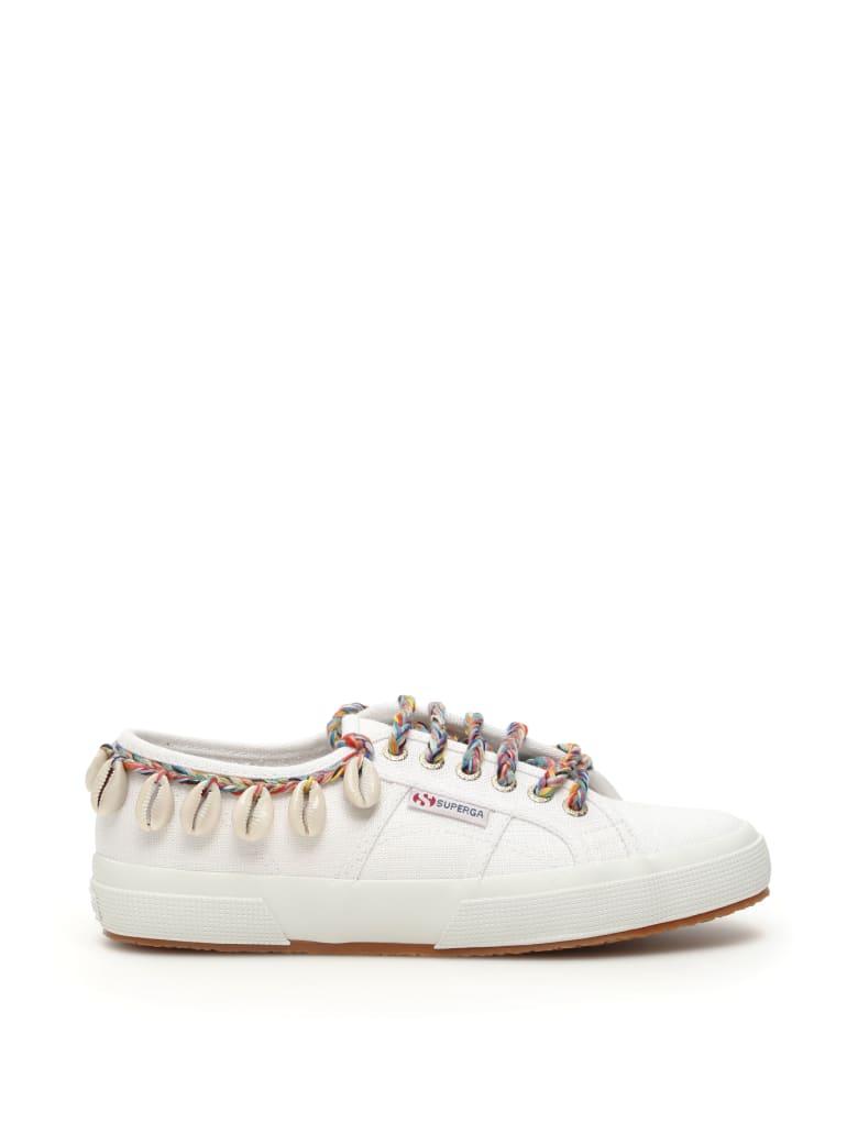 Alanui Superga Shells Sneakers - WHITE MULTI (White)