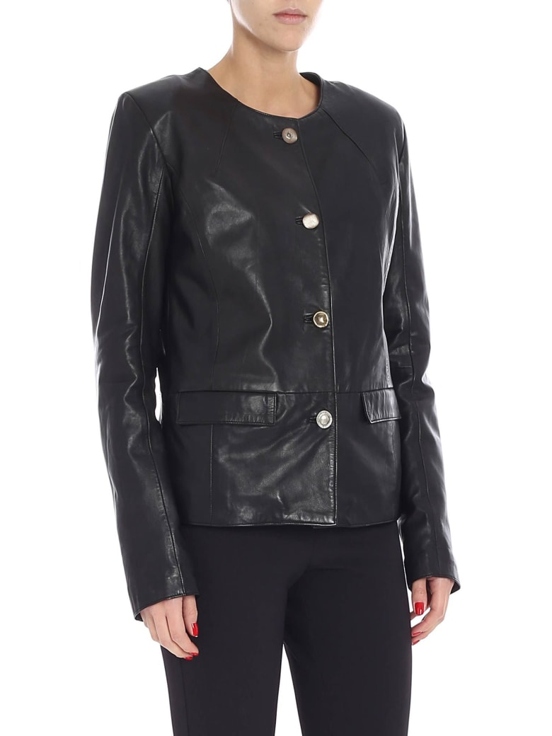 S.W.O.R.D 6.6.44 S.w.o.r.d. - Leather Jacket - Black