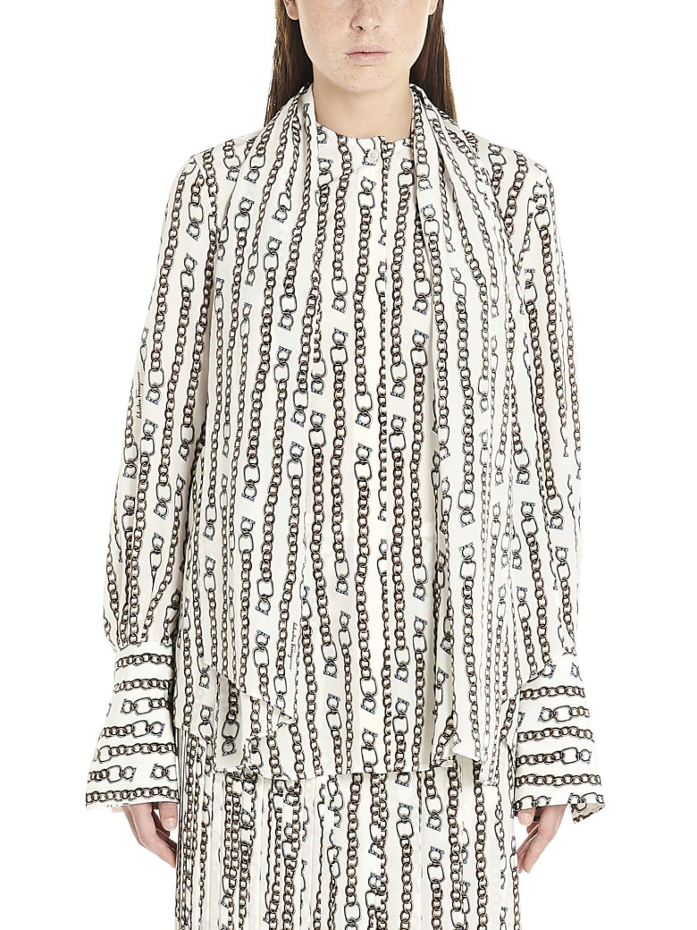 Salvatore Ferragamo 'chain' Shirt - Multicolor