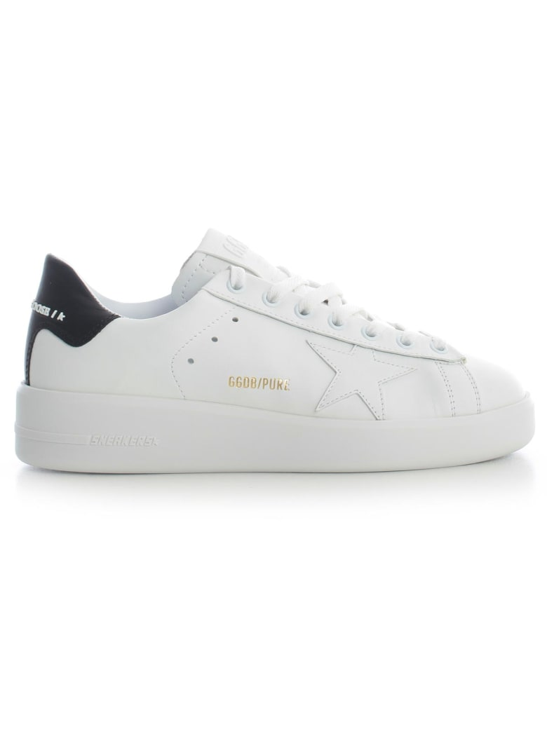 Golden Goose Sneakers Pure Star - White Leather Black Heel