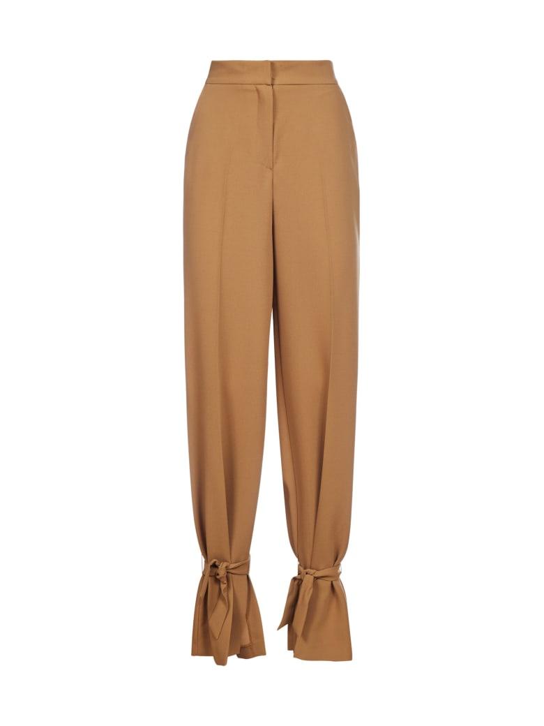 Blanca Vita Philomena Tie-detail Trousers - Cammello