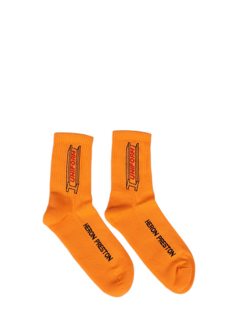 HERON PRESTON Socks - Arancio/multicolor