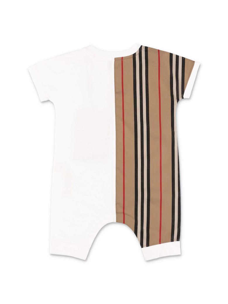 Burberry Jumpsuit - WHITE/BROWN