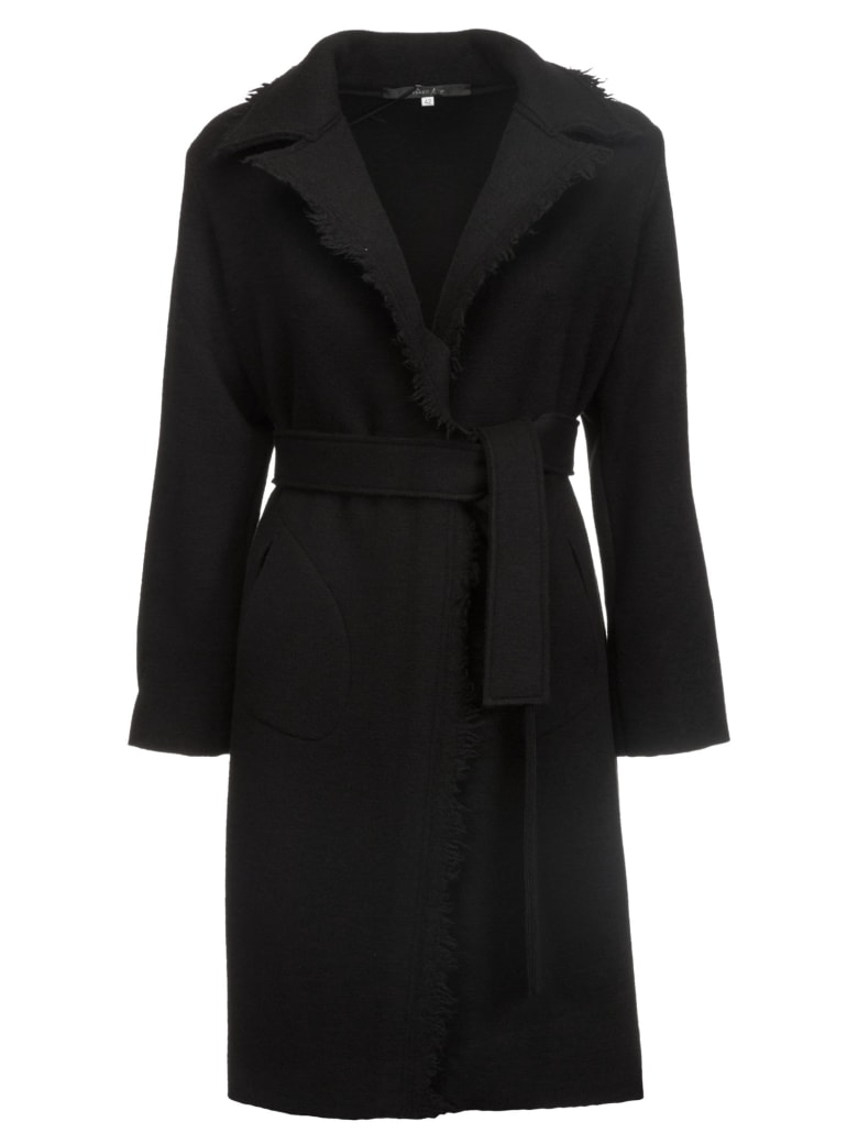 Terre Alte Fringe Detailed Coat - Black