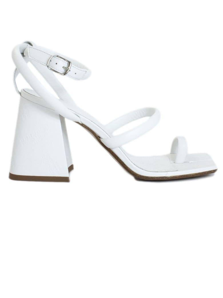 Maison Margiela White Leather Sandal - Bianco