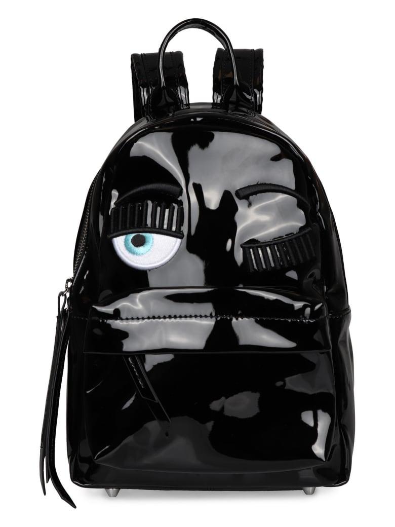 Chiara Ferragni Flirting Vinyl Backpack - black