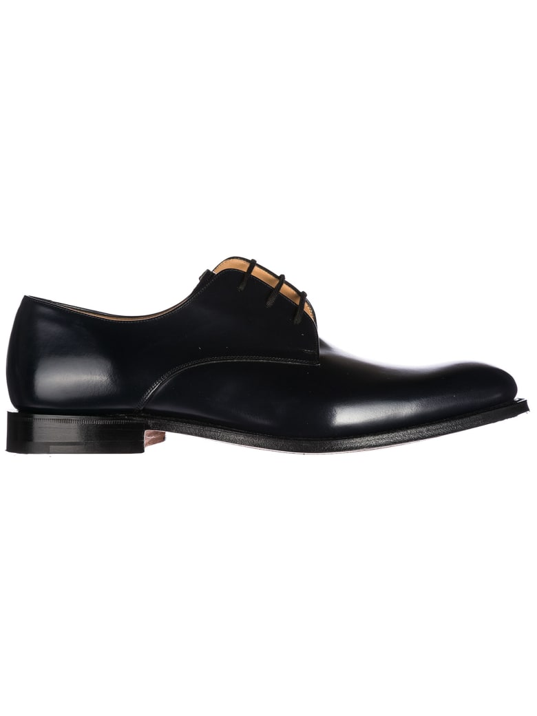 Church's  Classic Leather Lace Up Laced Formal Shoes Oslo Derby - Navy