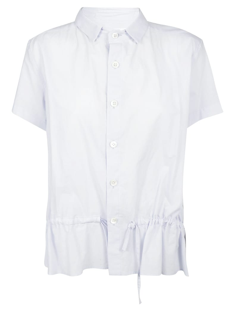 Y's Ruffle Detailed Shirt - Light Blue