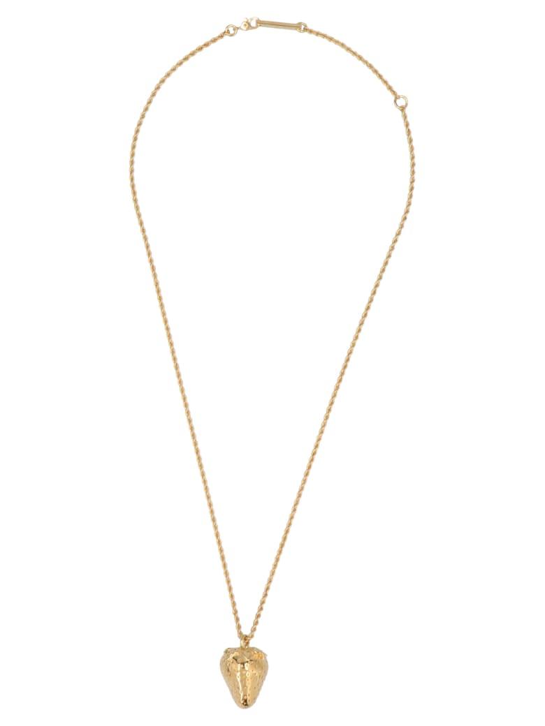 AMBUSH 'strawberry Charm' Necklace - Gold