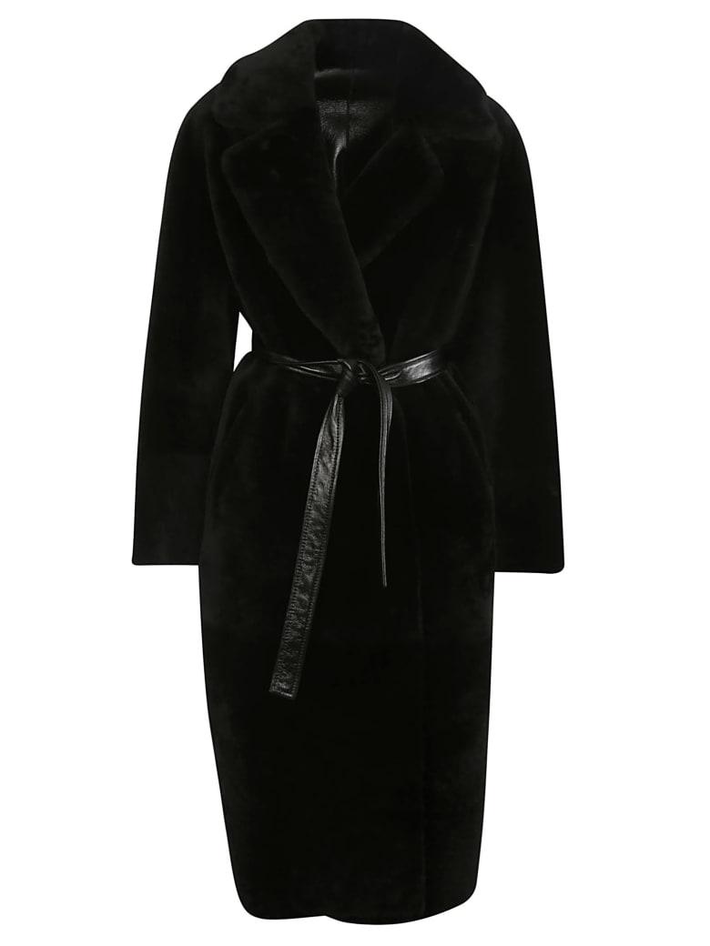 Blancha Tie Waist Coat - Black
