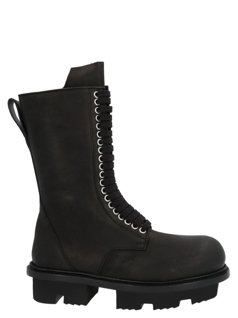 Rick Owens 'army Bozo Megatooth' Shoes - Nero