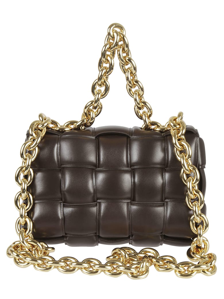 Bottega Veneta Chain Cassette Shoulder Bag - Fondent/Gold