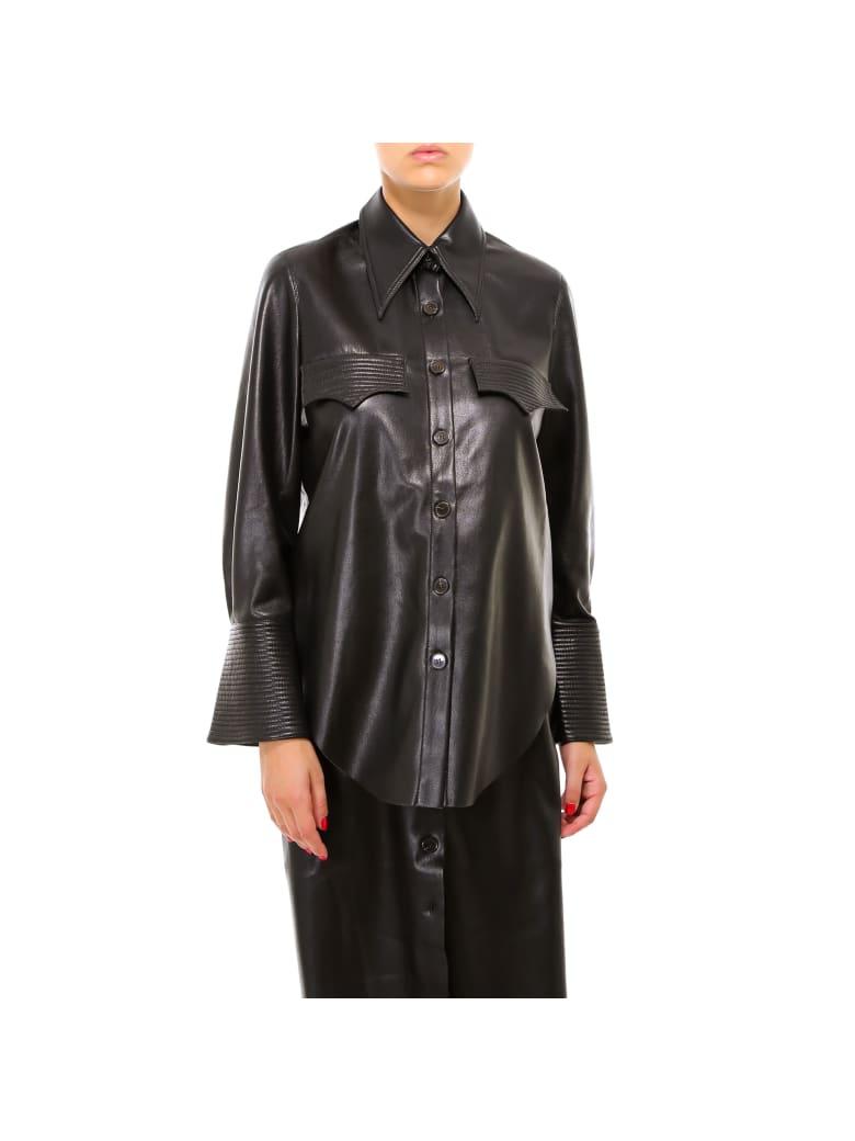 Nanushka Black Vegan Leather Shirt - Black