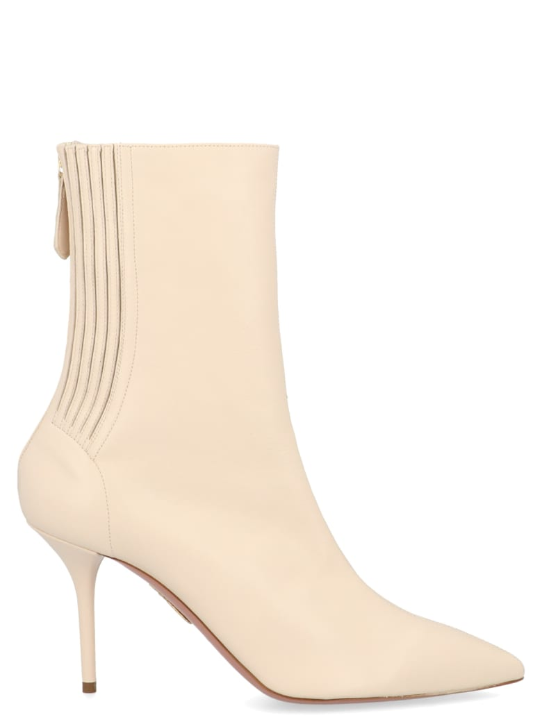 Aquazzura 'satin Honore' Shoes - White