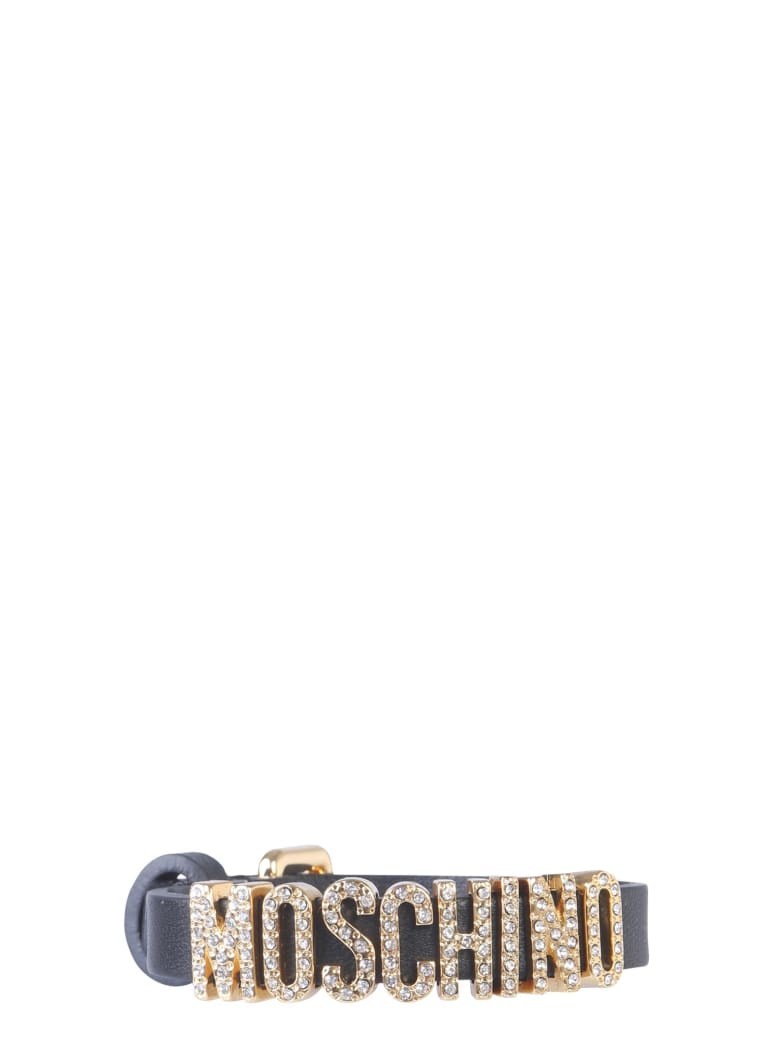 Moschino Leather Bracelet - NERO