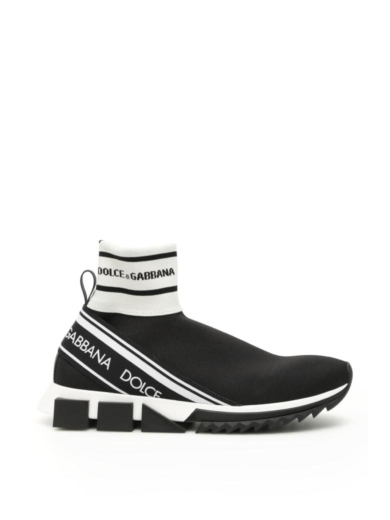 Dolce & Gabbana Sorrento Hi-top Running Sneakers - NERO NERO (Black)