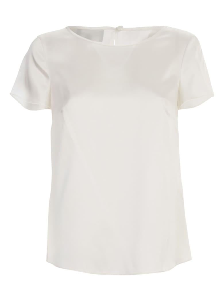Emporio Armani Silk Shirt S/s - Bianco Caldo