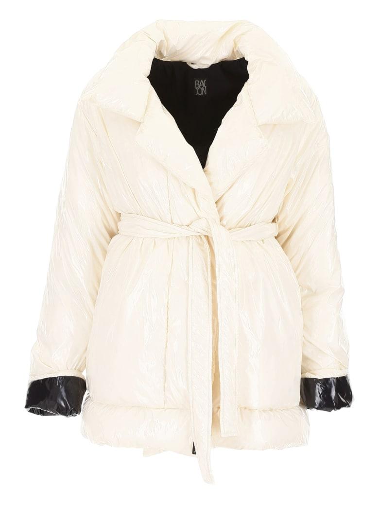 Bacon Belted Puffer Jacket - DEEP BEIGE (White)