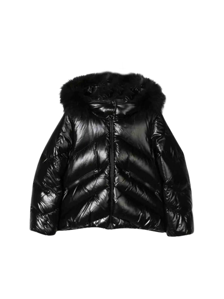 Moncler Long Down Jacket With Hood by Moncler