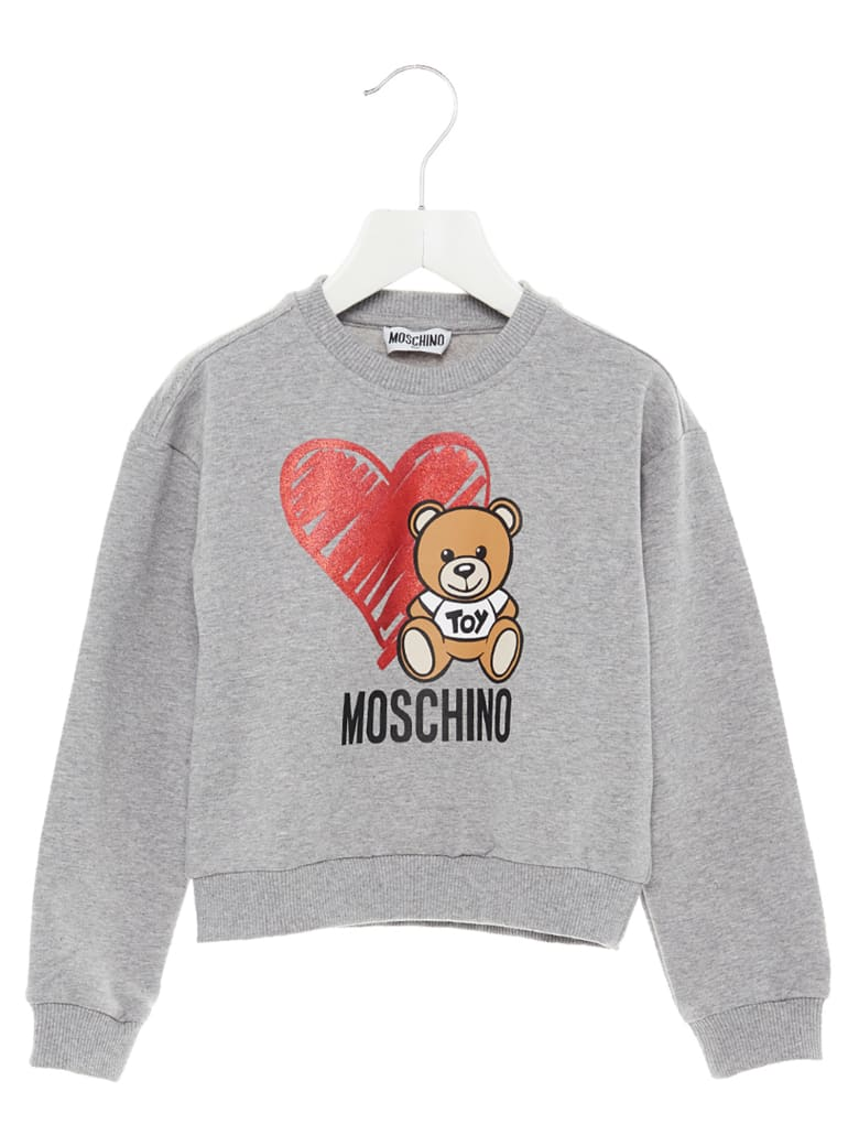 Moschino 'teddy Cuore' Sweatshirt - Grey