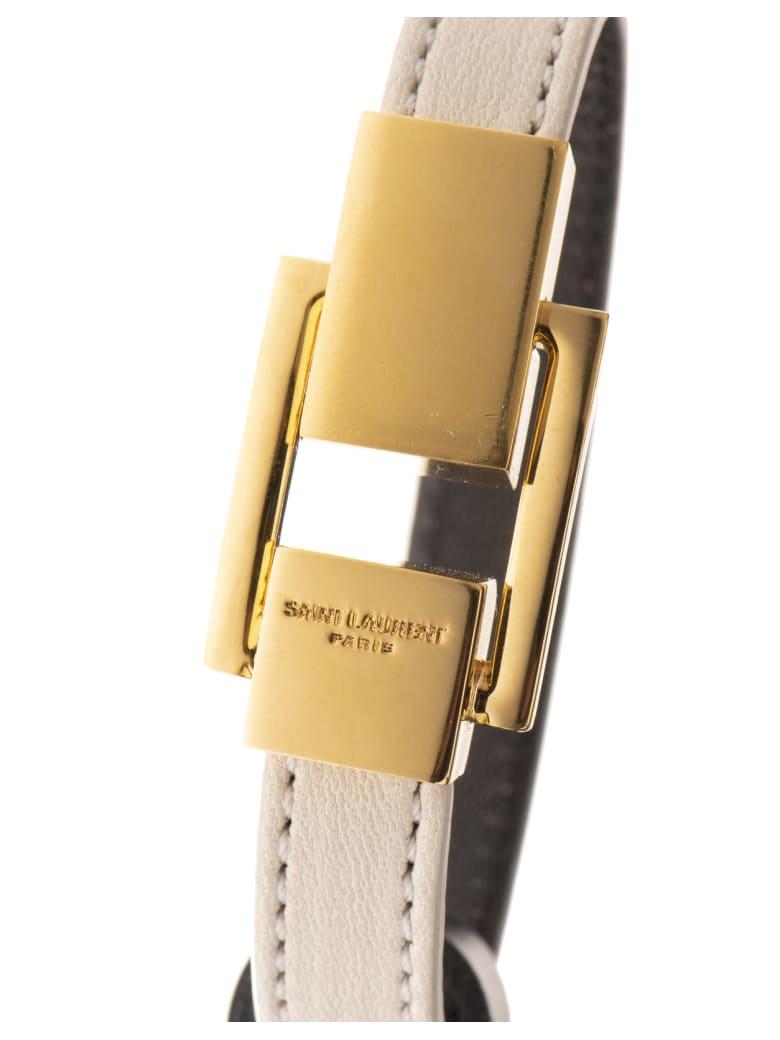 Saint Laurent Metal Clip Bracelet - Crema