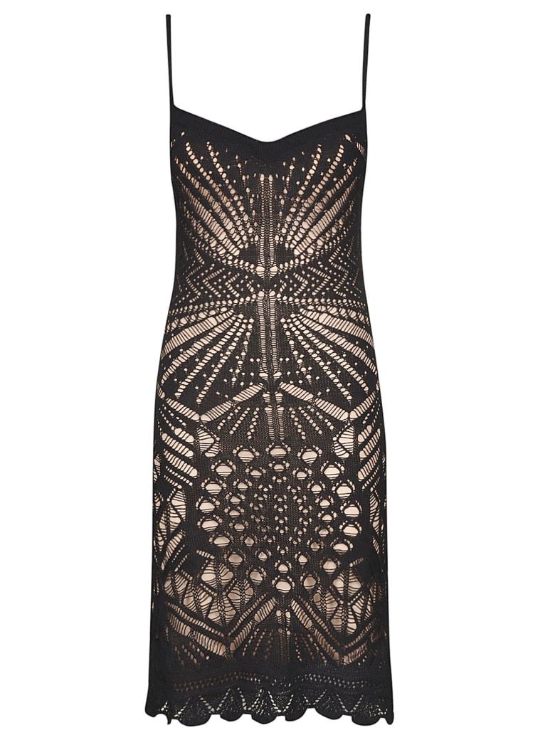 Dsquared2 Perforated V-neck Dress - Black
