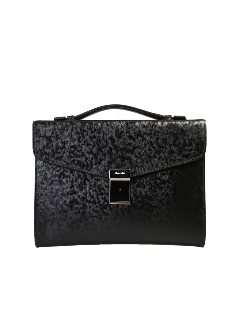 Church's Crawford M Leather Briefcase - Black