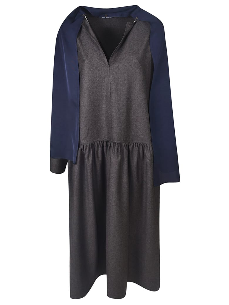 Sofie d'Hoore V-neck Scarfed Dress - Grey