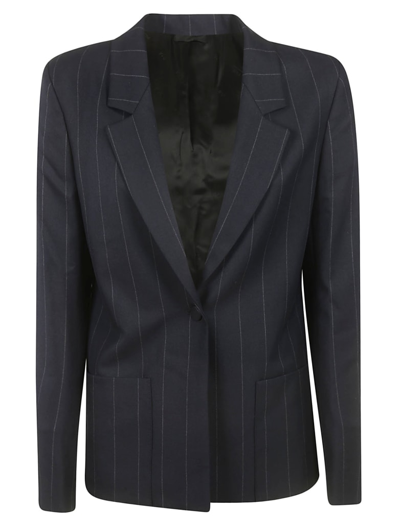 RTA Striped Blazer - Dark Blue
