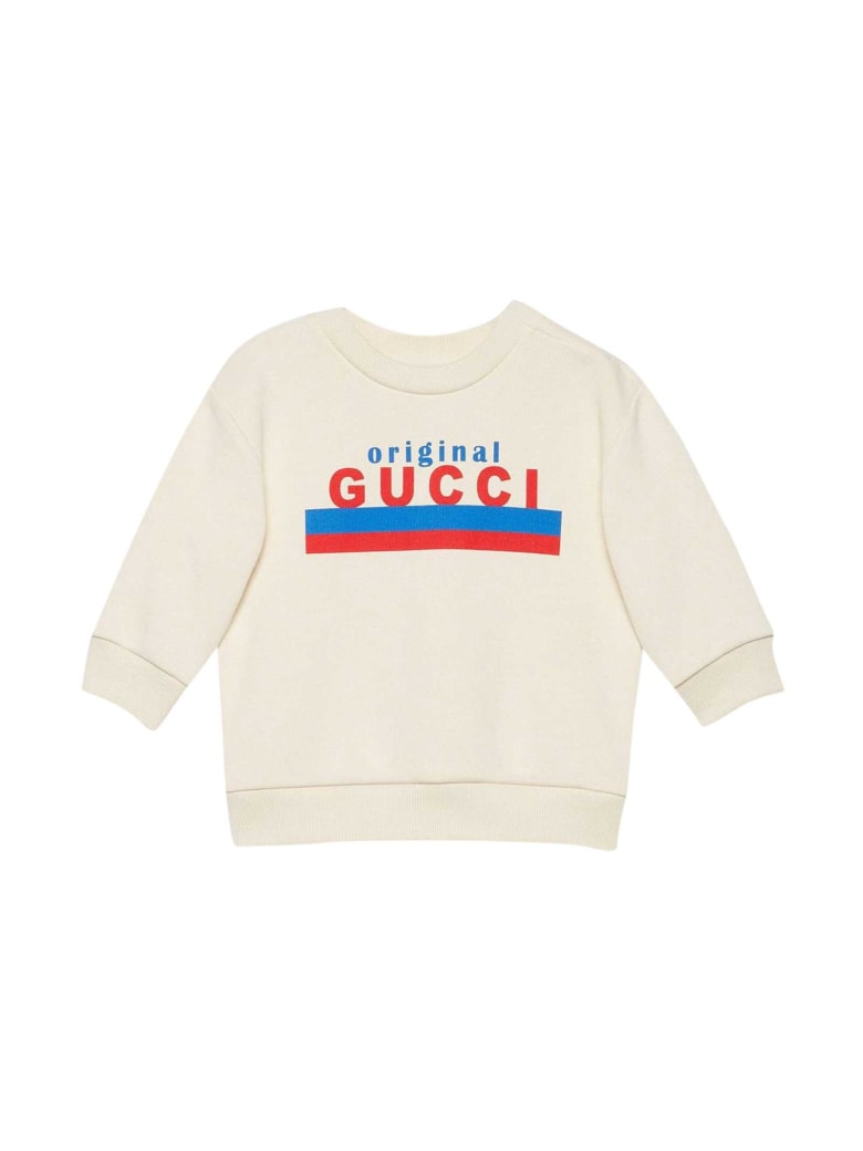 Gucci White Sweatshirt With Print - Bianco