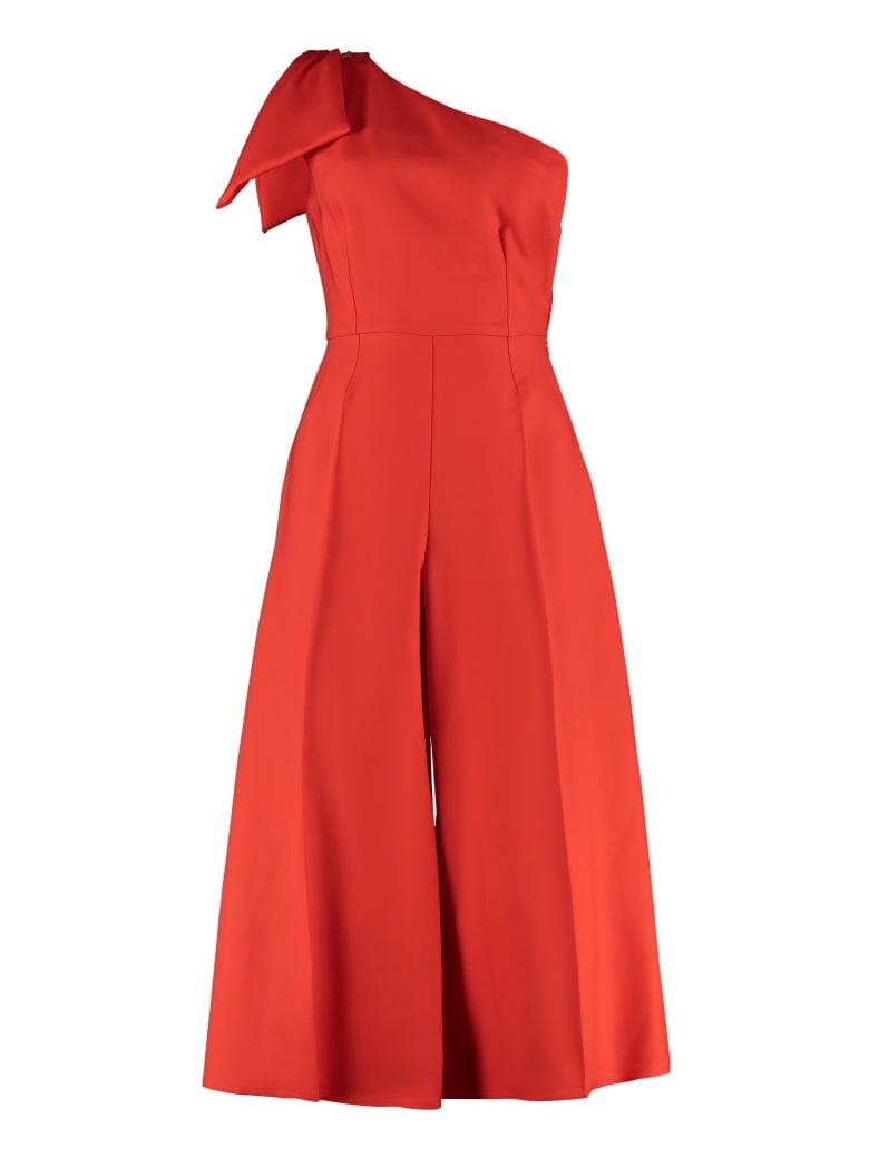 Elisabetta Franchi Celyn B. One-sleeve Jumpsuit With Bow - Orange