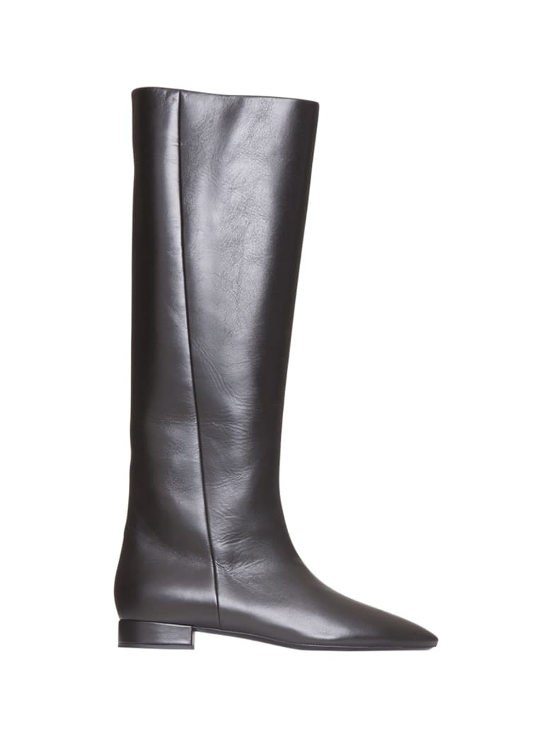 Saint Laurent Leather Boots - NERO