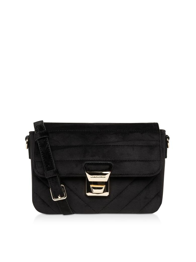 Lancaster Paris Actual Velvet Couture Flap Crossbody Bag - Black