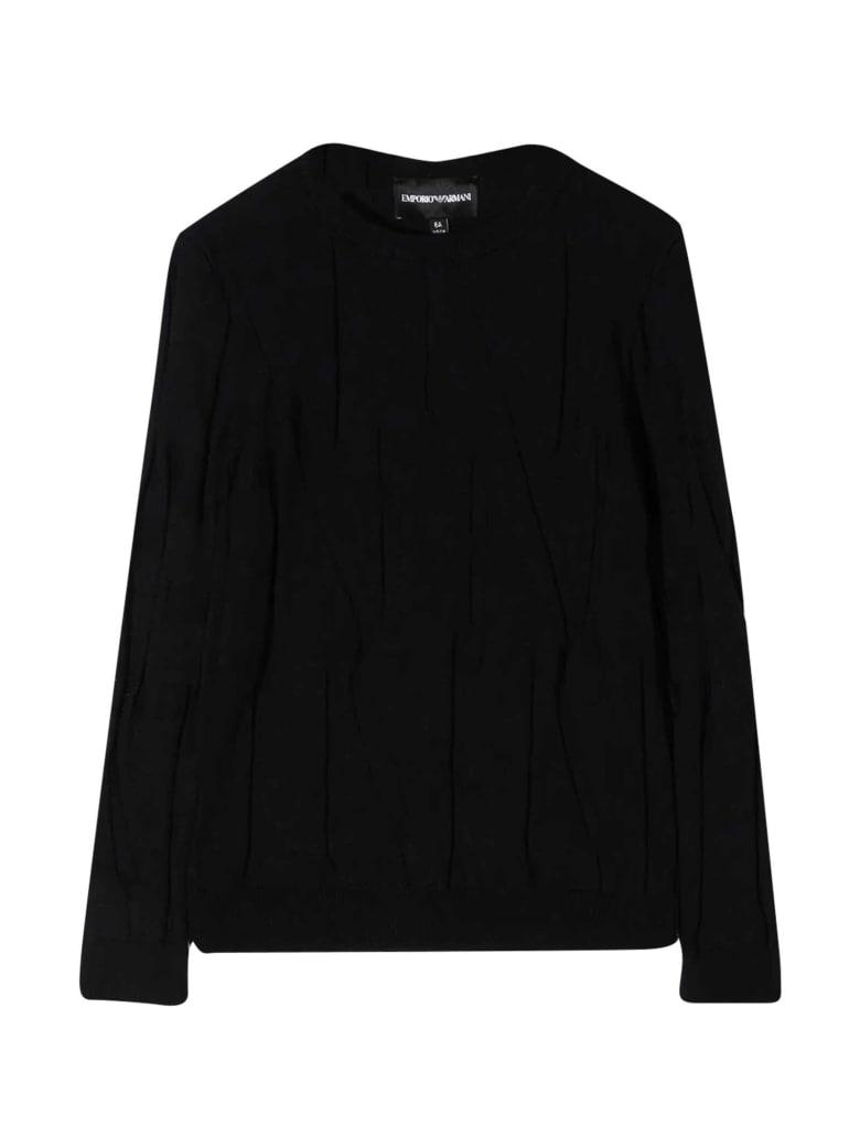 Emporio Armani Black Sweater - Nero