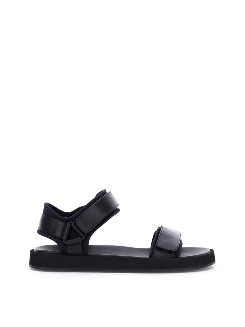 The Row Hook And Loop Flat Sandals - BLACK (Black)