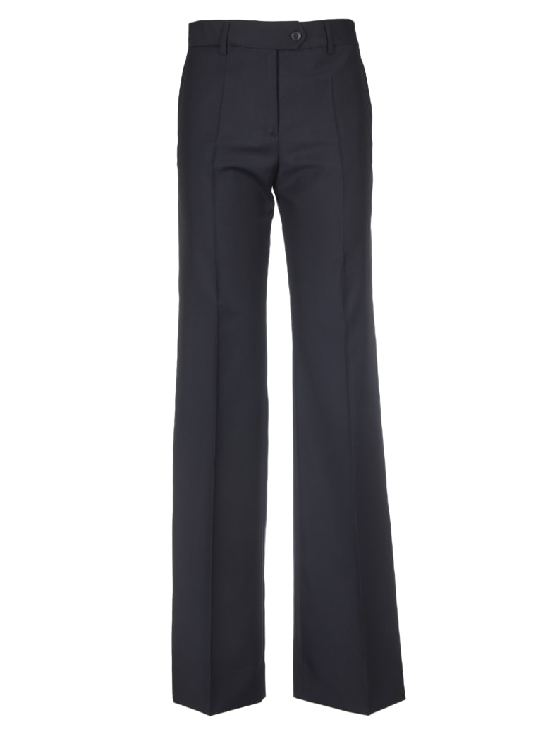 Paul Smith Blue Palazzo Trousers With Sartorial Fold - Blue