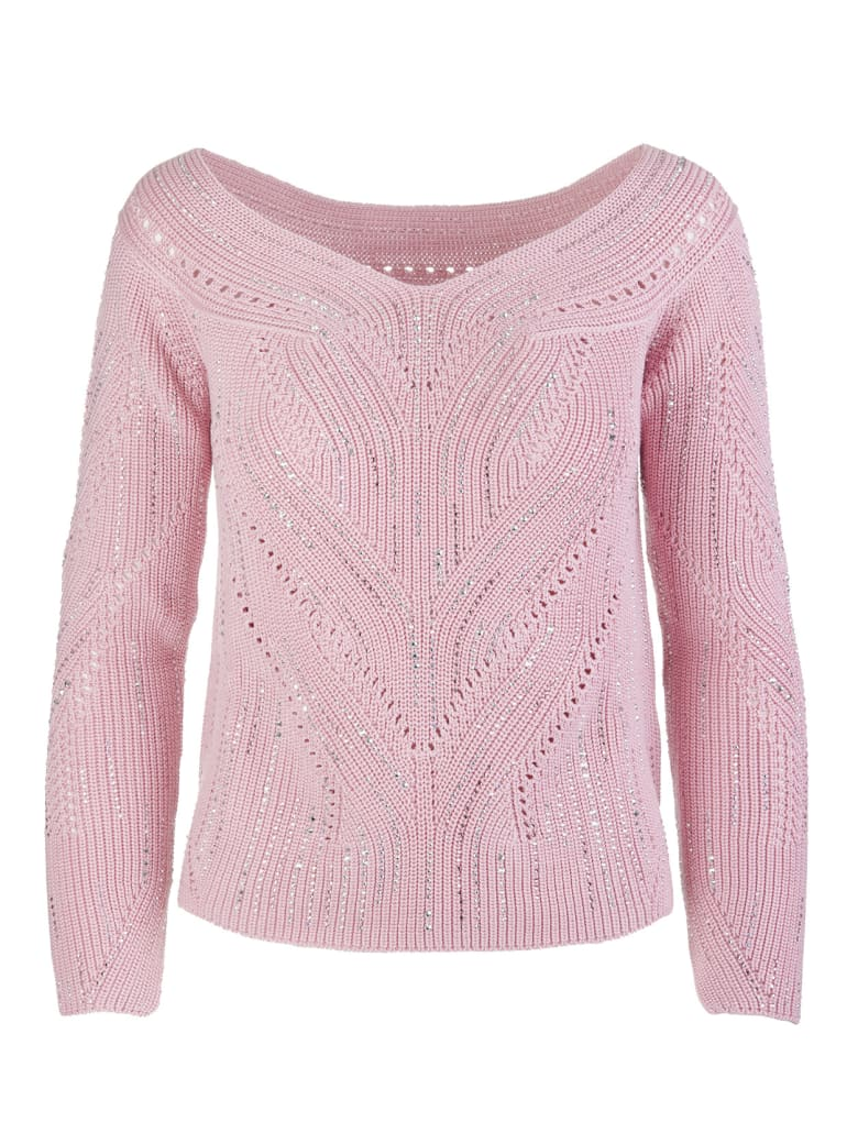 Ermanno Scervino Sweater With Funnel Neck - Rosa