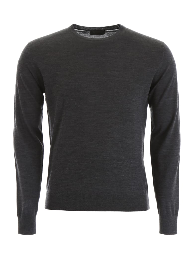 Prada Brushed Wool Pullover - ANTRACITE (Grey)
