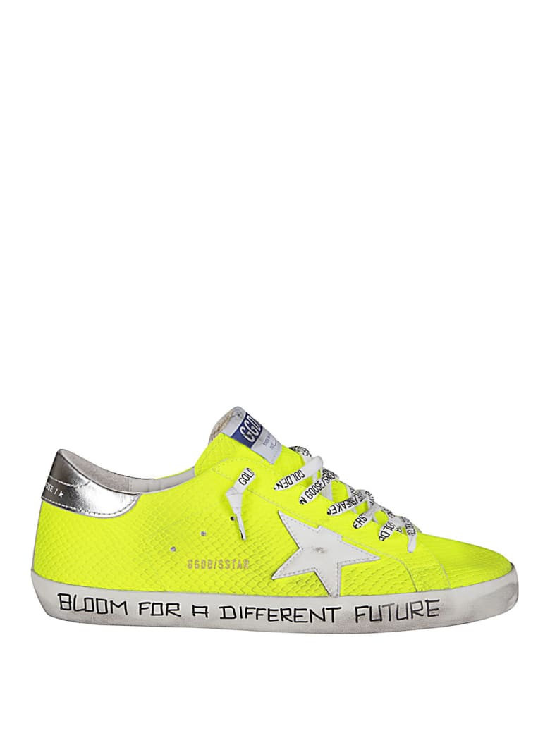 Golden Goose Fluorescent Yellow Leather Super-star Sneakers - Yellow