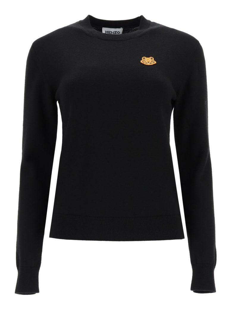 Kenzo Tiger Patch Sweater - Nero