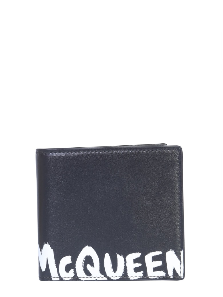 Alexander McQueen Wallet With Logo - NERO