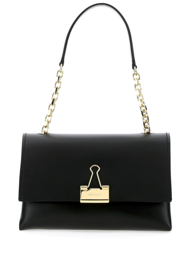Off-White Handbag In Black Smooth Leather - Nero