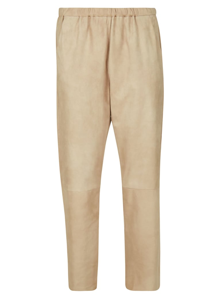DROMe Straight Leg Trousers - Brown