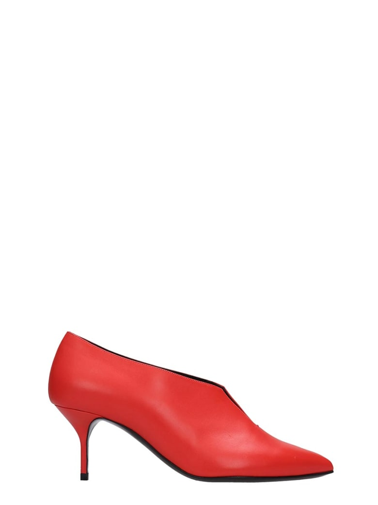 Pierre Hardy Secret Pump 60 Pumps In Red Leather - red